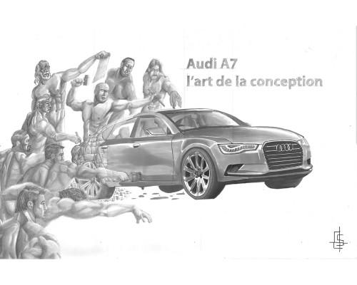 audi A7 illustration