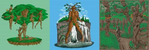 bannière femme arbre
