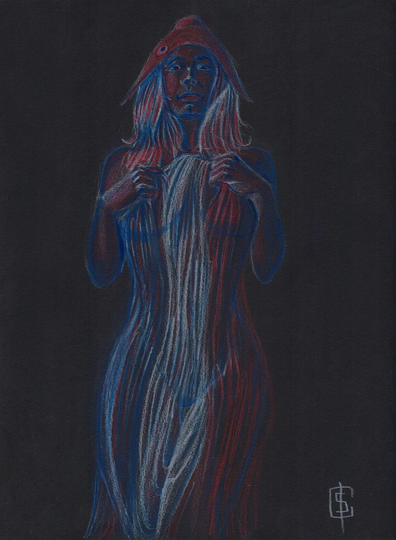 Illustration en 3 couleur de la Marianne