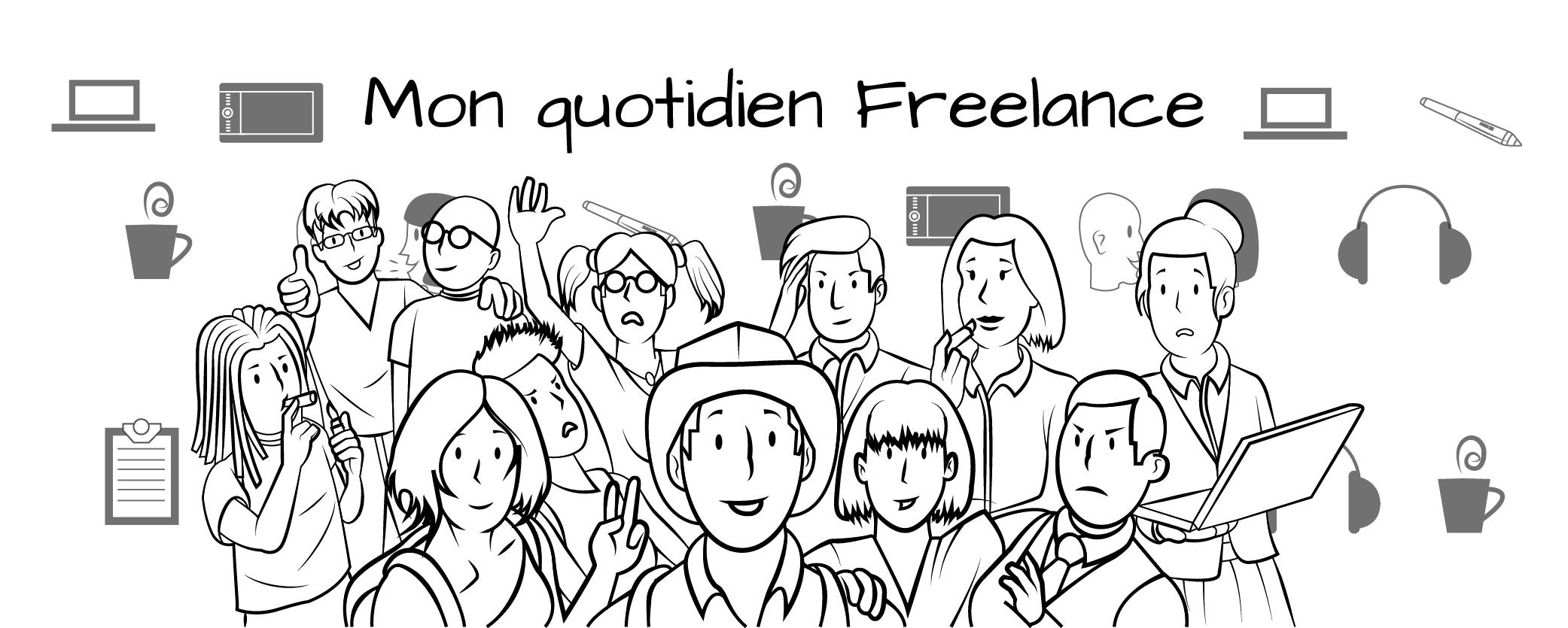 Freelance, Bannière web, Humour